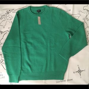 J Crew Green Cotton Moss Stitch Sweater - New - L
